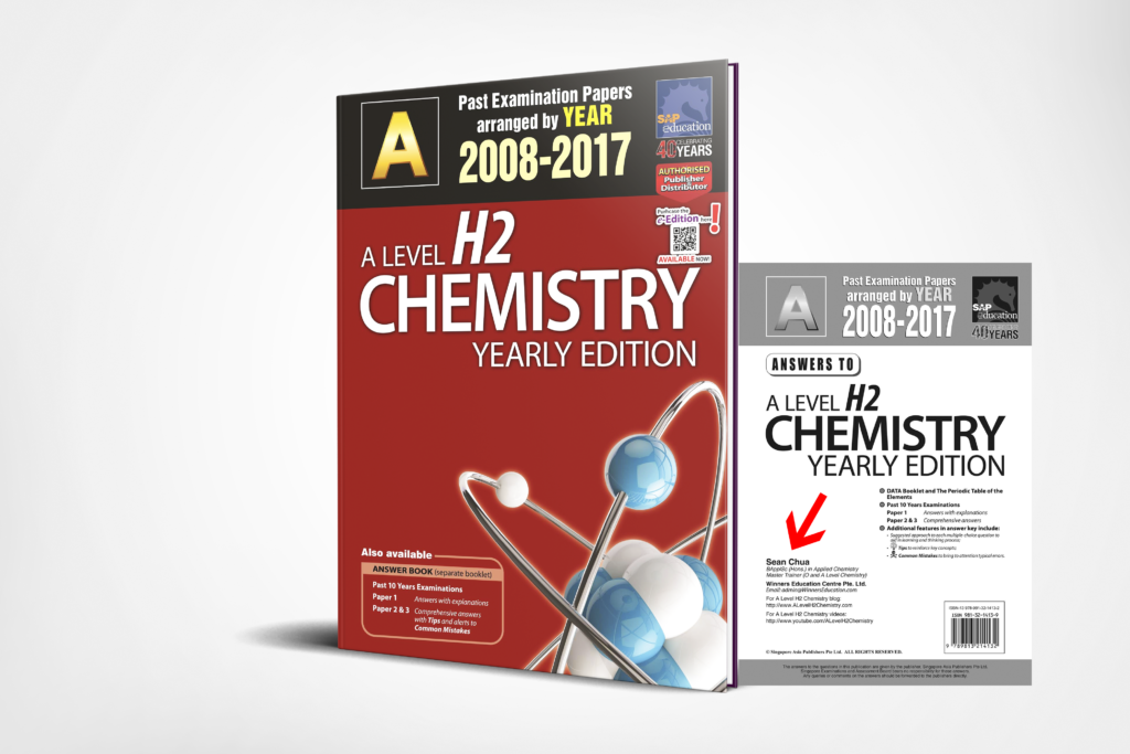 A-Level H2 Chemistry Ten Years Series Yearly 3D Edition by Sean Chua