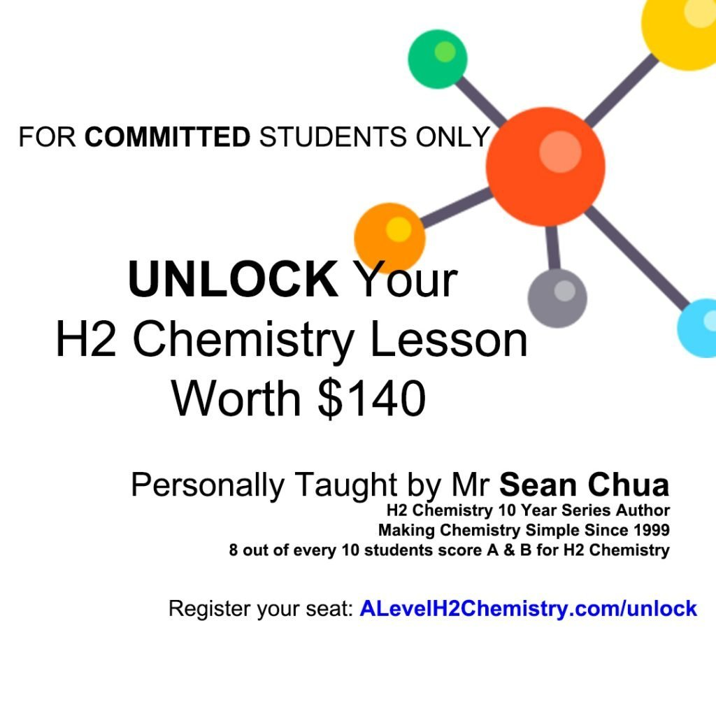 JC students can join H2 Chemistry lesson for free in our UNLOCK Workshop