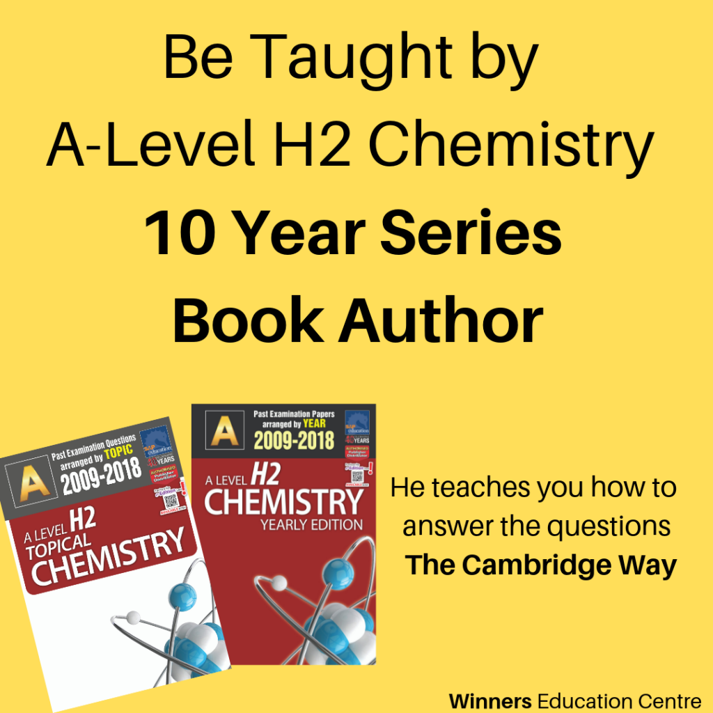 Be Taught by A-Level H2 Chemistry 10 Year Series Book Author Sean Chua