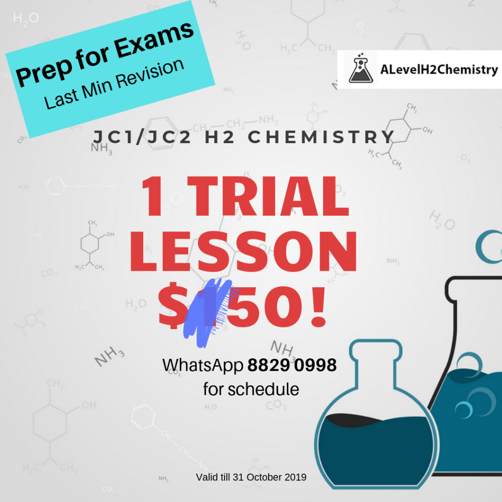 H2 Chemistry Tuition Trial Lesson $50 by 10 Year Series Author