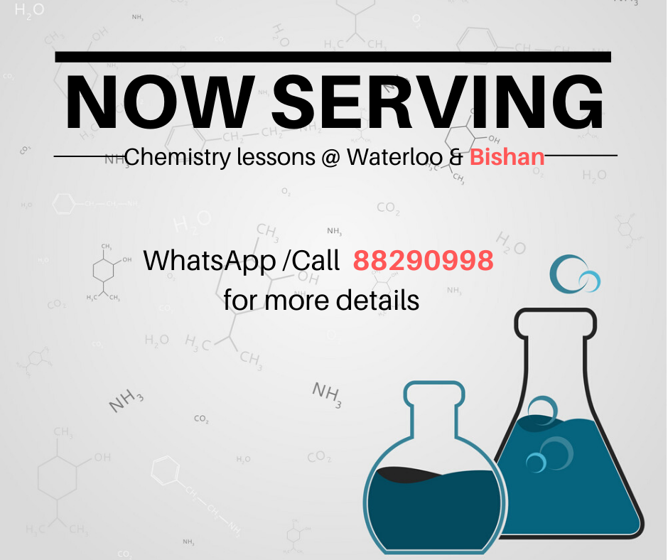 Sec 4 Pure Chemistry and H2 Chemistry Tuition at Bishan