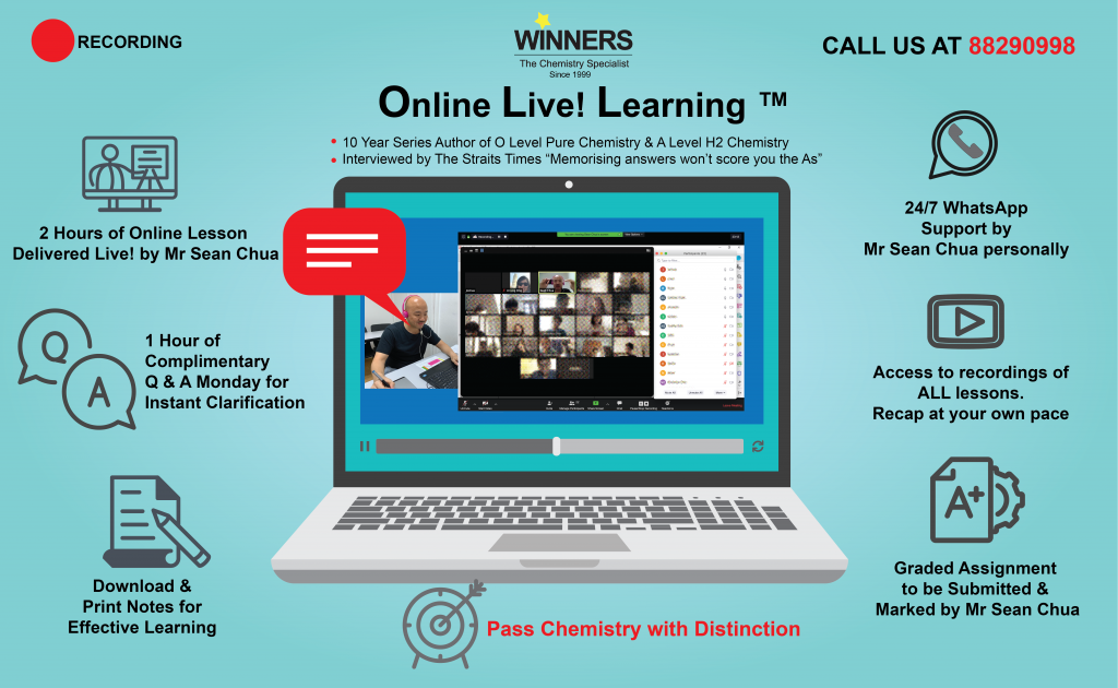 Online Chemistry Tuition Lessons for A Level H2 Chemistry JC students